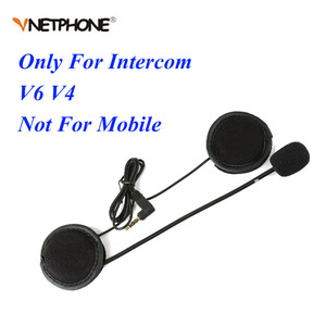 Vnetphone V6 intercom accessories 3.5mm Jack Plug Earphone Stereo Suit for V6 V4 Motorcycle Bluetooth Intercom BT Interphone