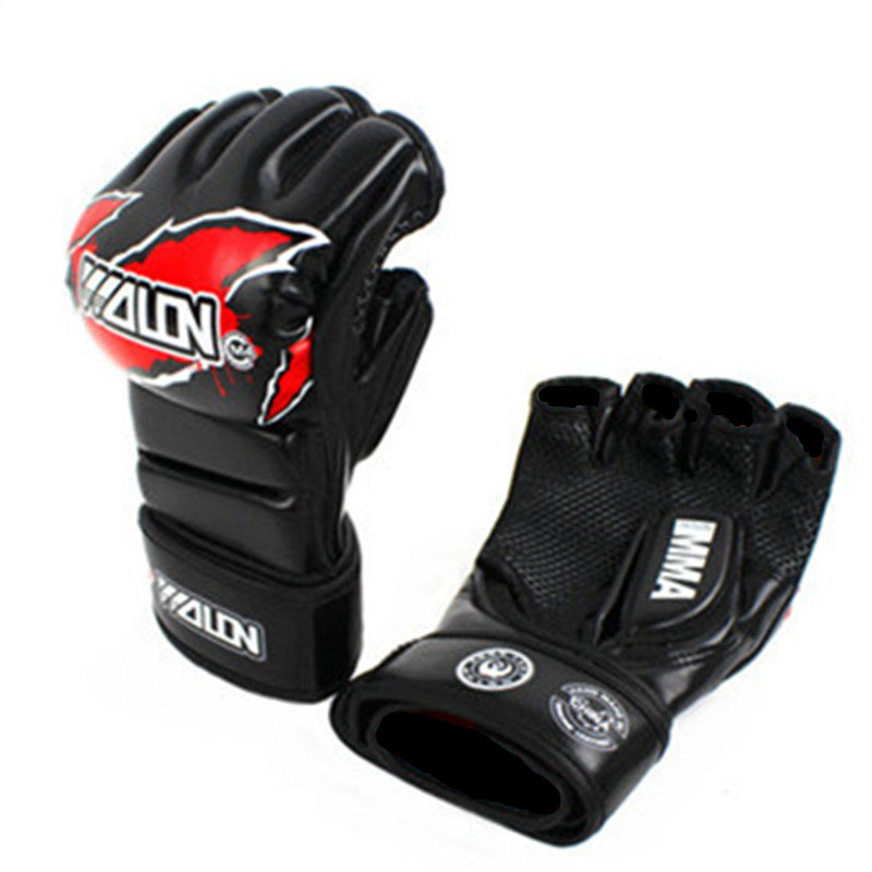 MMA Boxing Gloves 5 Colors High Quality PU Mateial MMA Half Fighting Gloves Muay Thai Training Breathable Male Fitness for Adult  цены