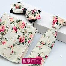 3 PCS Men NeckTie Set Bowtie Slim Necktie high quality Skinny Narrow Tie dress Handkerchief Pocket Square Suit