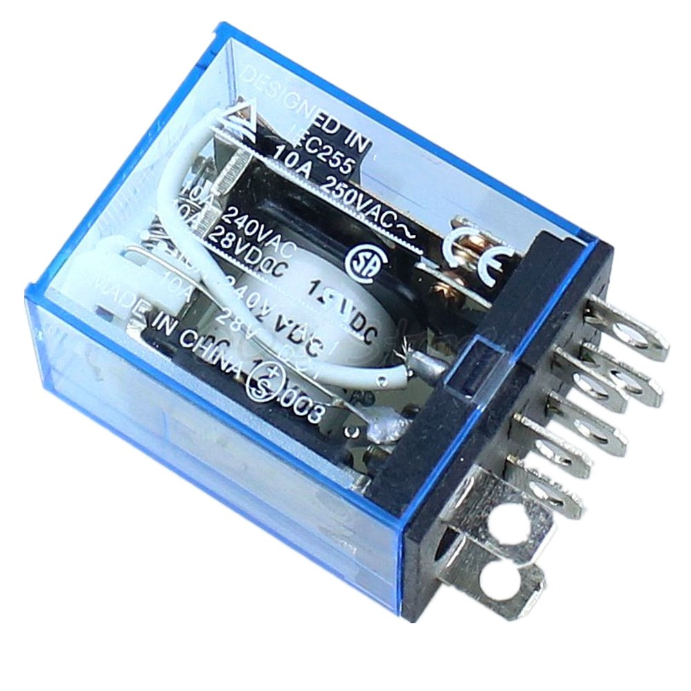 5PCS 12V Small Relay Omron LY2NJ DC 10A 8PIN Coil DPDT