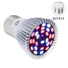 E14 LED Grow Light E27 Full Spectrum LED Plant Light Bulb 18W 28W Fitolamp AC85-265V Red Blue UV IR Led Growing Lamp For Plants 28w
