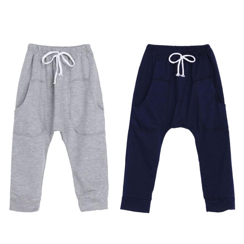 Spring Autumn Toddler Kids Baby Boys Girls Sports Fitness Harem Pants Boys Casual Style Sports Pants Trousers Bottoms