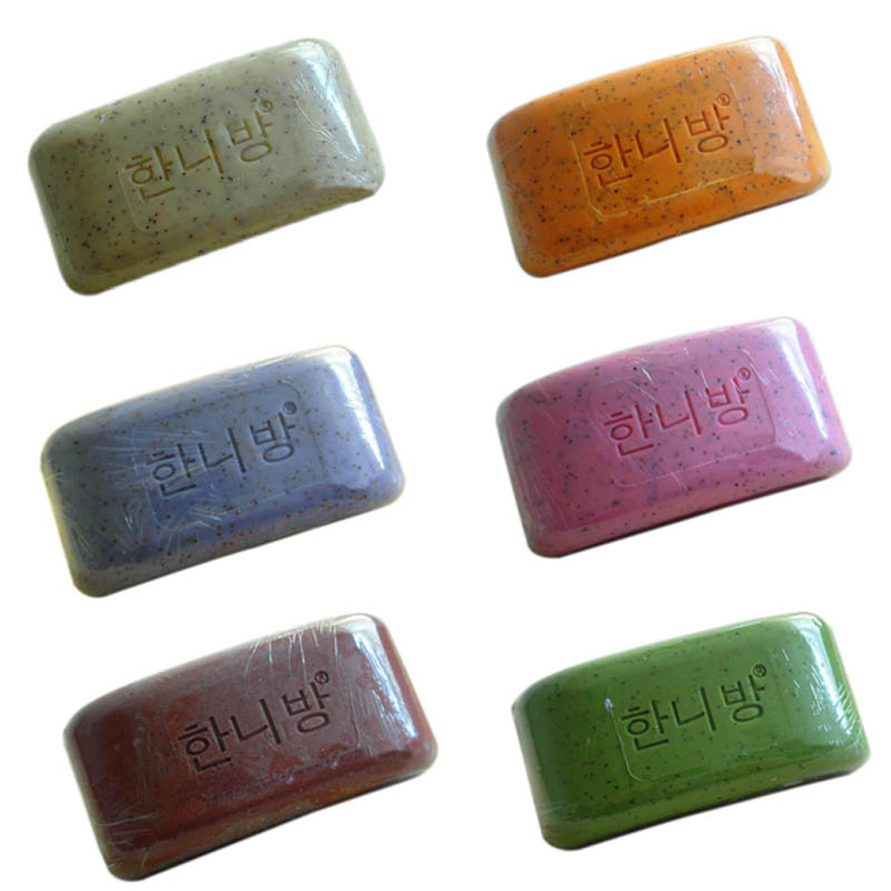 2018 New Hot 100% Pure Nature Elements Organic Bath Soap Flower Plants Essence Volcanic Clay Shower Handmade Soap