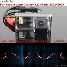 цена на Lyudmila Car Intelligent Parking Tracks Camera FOR Toyota Land Cruiser 120 Prado 2002~2009 HD Back up Reverse Rear View Camera