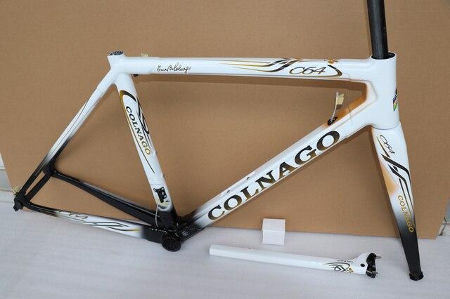 94228efdd34 15 color 2019 Colnago C64 frame carbon frame set road bike Frames carbon  bicycle white Gold