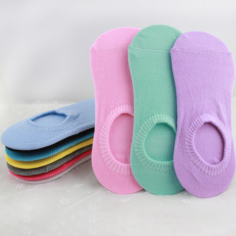 miaoxi 5 Pairs New Fashion Solid Candy Women Socks Summer Favourite Girl Sock Slippers Standard Casual Sock Rushed 1