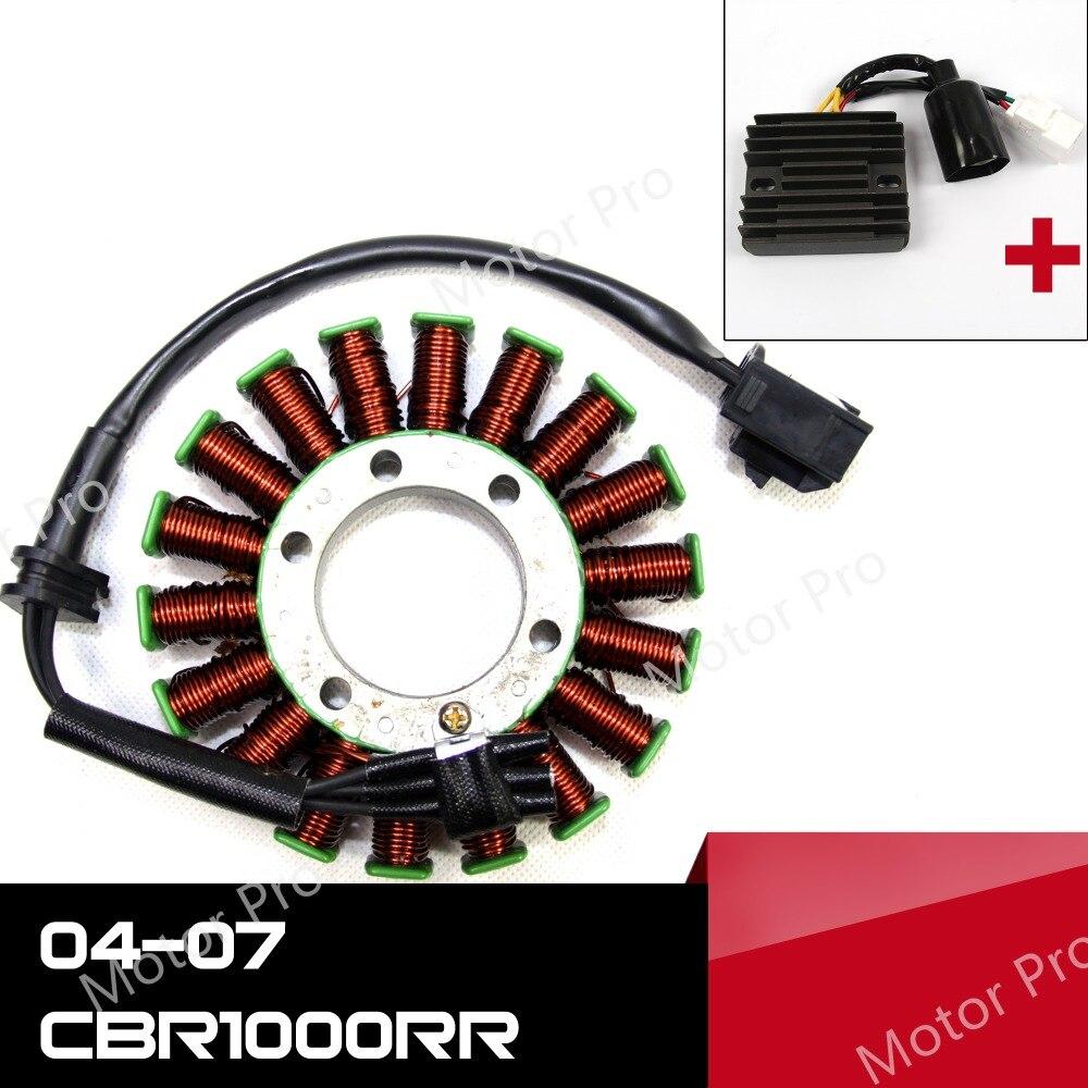 Pour Honda CBR1000RR 2004-2007 moteur Stator bobine et régulateur de tension Kits moto redresseur CBR 1000 RR CBR1000 1000CC