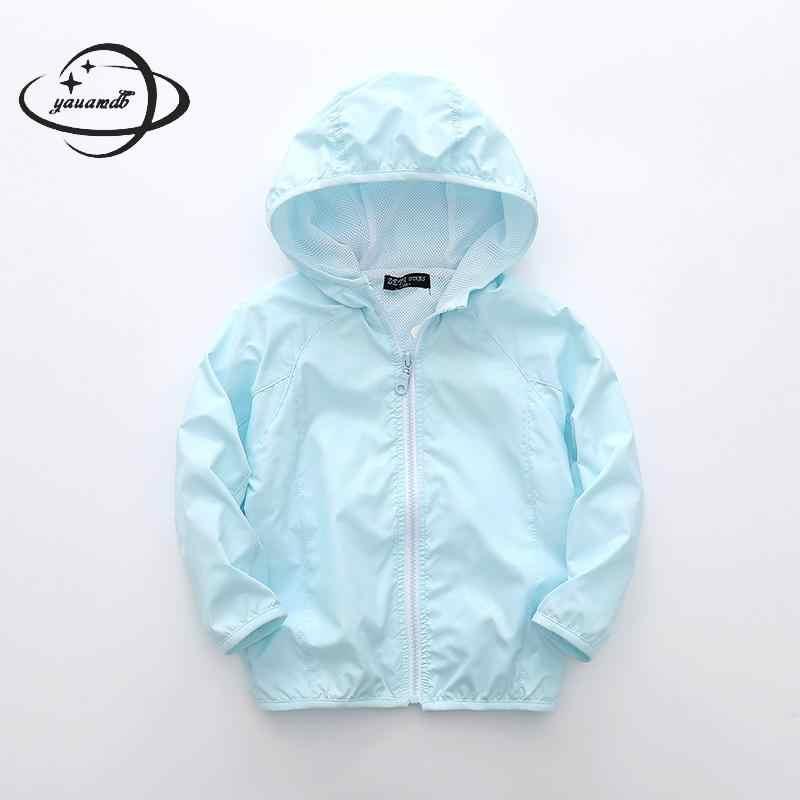 YAUAMDB/Для девочек; детский плащ; 2018 весна-осень От 4 до 11 лет для девочек Куртка для мальчиков пальто с капюшоном на молнии; детская ветровка; одежда ly44