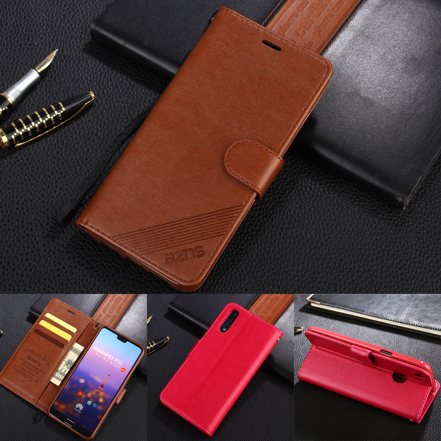 azns Case For Huawei P10 P10 Lite P10 Plus Luxury Wallet Leather Case Stand Flip Card Hold Phone Cover Bags For Huawei P20 Pro