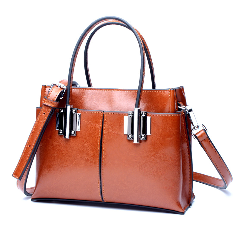 Fashion Genuine Leather Solid Women Handbag High Quality Cow Leather Female Shoulder Boston Bags Real Leather Tote Bags Kabelky phedera europe style women tote bags high quality genuine leather female handbag simple fashion real leather brown women handbag