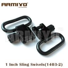 "Armiyo 1 ""1 Inch 25.4mm Sling Swivels cu bile detașabile rapide montate Gun Hunting Accessories Accessories 1403-2 Transport gratuit"