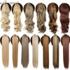 SNOILITE 17''23'' Long wavy Clip In Hair Tail False Hair Ponytail Hairpiece With Hairpins Synthetic Hair PonyTail Hair Extension 1