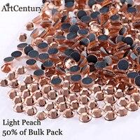 Iron On Hotfix Rhinestone Shiny Light Peach DMC Flatback Hotfix Rhinestones Ss6 Ss10 Ss16 Ss20 Ss30