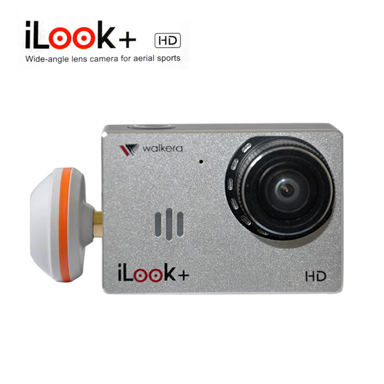 Walkera ILOOK+ HD Sport Camera 150 Degree Wide-angle Lens Camera for Aerial Sports with 5.8G Mushroom Antenna Support Android walkera g 2d camera gimbal for ilook ilook gopro 3 plastic version