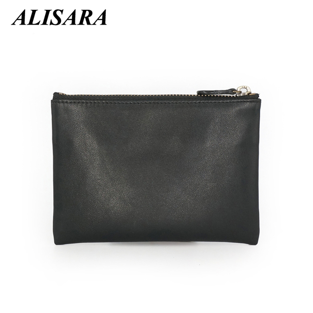 Women wallets genuine leather Card Holders Mini wallet men Coin Pouch Simple coin purses female change purse ladies Zipper bag