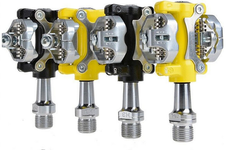 WELLGO W01 MTB Touring Bike Bicycle Clipless Light Pedals 9/16 CR-MO Spindle Sealed Cleats Compatible For SHIMANO SPD 300g