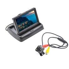 """4.3 """"LCD de Visión Trasera Backup Monitor con Aparcamiento Gratuito Kit de Cámara de Visión Nocturna"""