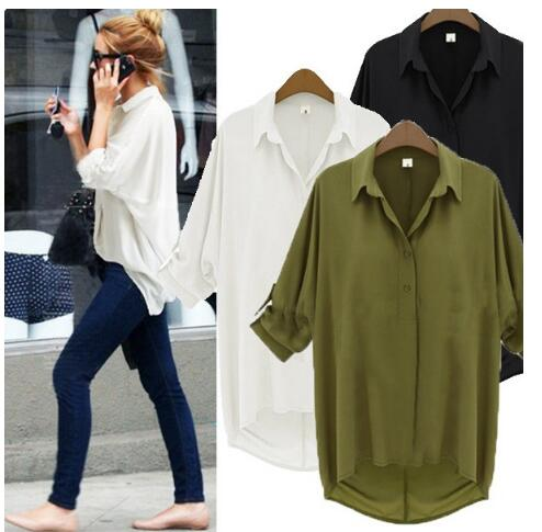 Blouse 2018 green shirt womens Blusas Y Camisas Mujer sexy long-sleeved chiffon shirt ladies summer womens shirts