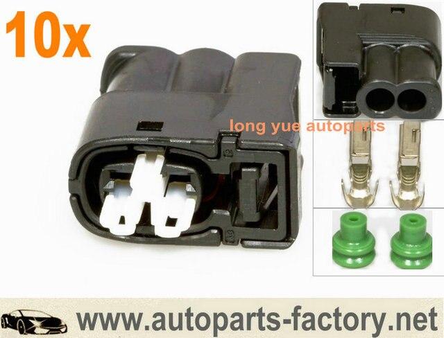 אולטרה מידי longyue 10set 2Pin Ignition Coil Connector fit For Toyota 1JZ 2JZ ZJ-62