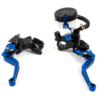 Aluminium 7/8 22mm Motorcycle Brake Master Cylinder Clutch Reservoir Levers set for Motorcycle Motorbikr from 250CC to 500CC