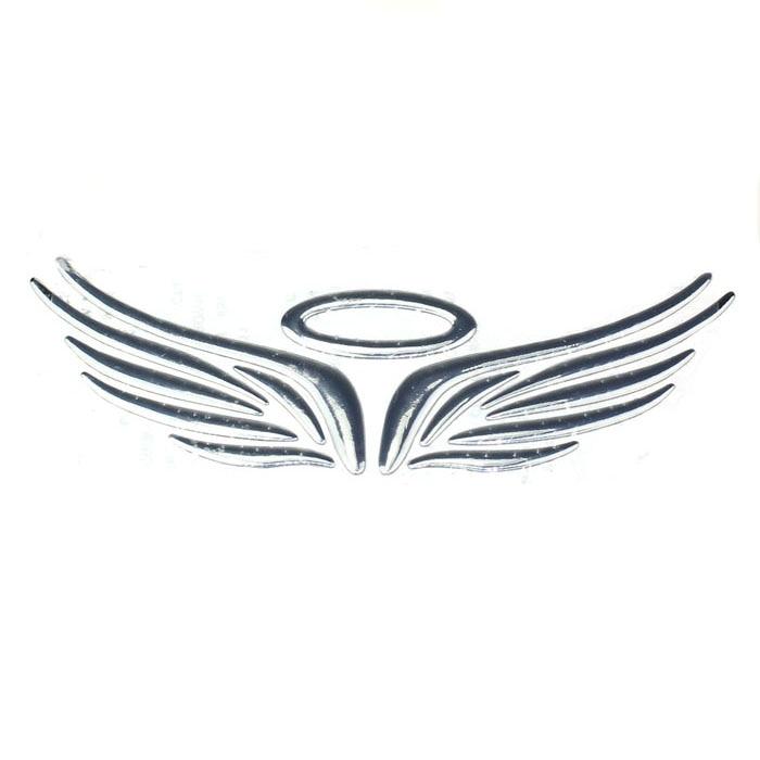 Hot 3D Stereoscopic Soft Plastic Wing Car Emblem Badge Decal Sticker Aug 3