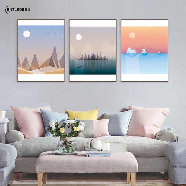 Us 4 41 40 Off Spring Summer Autumn And Winter Season Scenery Posters Prints Wall Art Canvas Painting Picture Living Room Home Decoration In