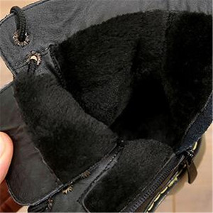 Image 5 - 高ブーツ子供の本革冬の毛皮のアンクルブーツ男の子の幼児ファッションガールズスノーブーツ子供靴