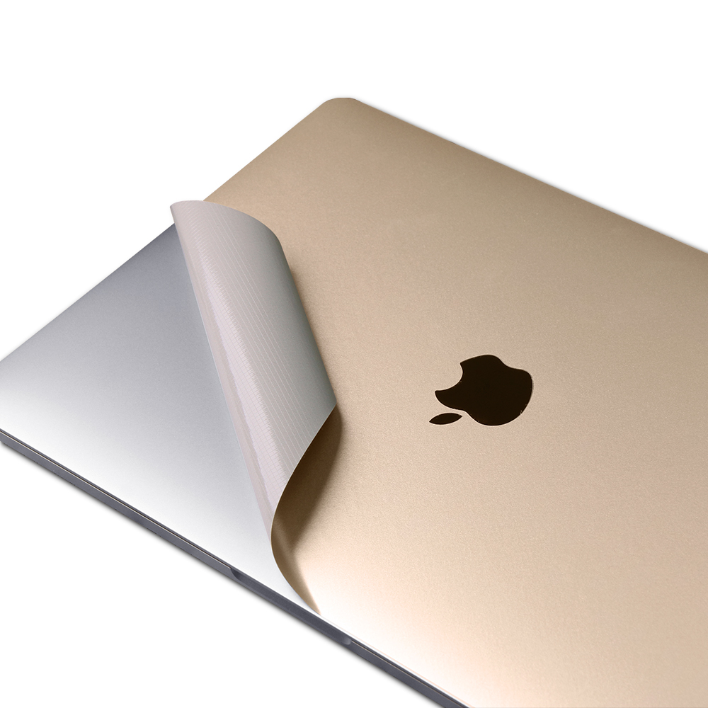 Premium A1466 Champagne Gold Full-sized Body 4-in-1 Vinyl Pure Color Laptop Sticker Protective Skin Decal For MacBook Air 13