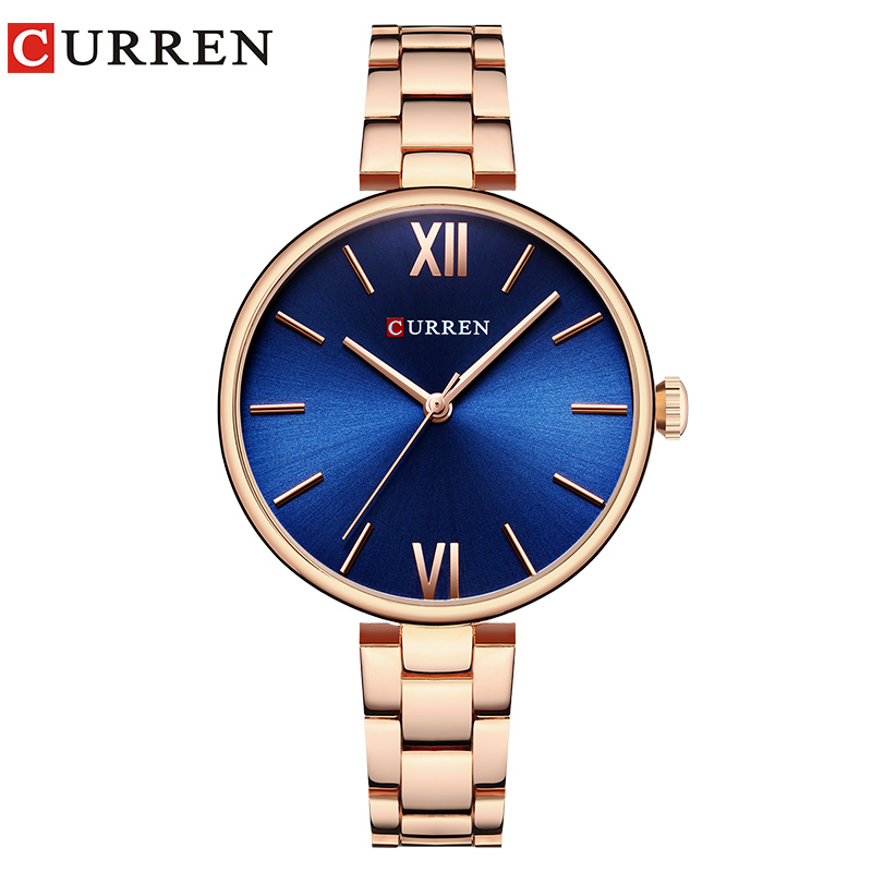 CURREN New Luxury Casual Analog Quartz Watch Women Wrist Watch Dress Fashion Watch Female Clock Relogio Feminino Reloj Mujer