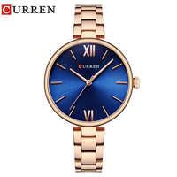 CURREN New luxury Casual Analog Quartz Watch Women Wrist Watch Dress Fashion Watch Female Clock Relogio Feminino reloj mujer