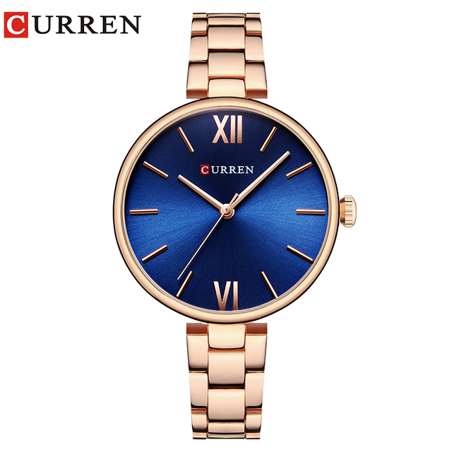 f4822757501 CURREN Novo luxo Analógico Casuais Relógio De Quartzo Das Mulheres do  Relógio de Pulso Vestido Moda Assista Relógio Feminino Relogio feminino  reloj mujer