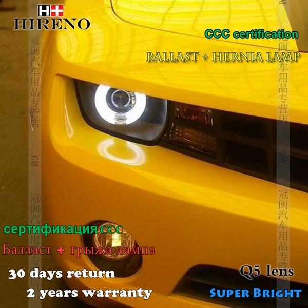 Hireno Headlamp for 2009-2014 Chevrolet Camaro Headlight Assembly LED DRL Angel Lens Double Beam HID Xenon 2pcs hireno headlamp for 2015 2016 2017 chevrolet cruze headlight assembly led drl angel lens double beam hid xenon 2pcs