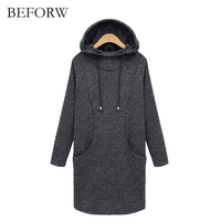 BEFORW Slim Pullovers Hoodie Female Long Sleeve Hooded Sweatshirt Women Tracksuits Hoodie Thicken Long Sleeve Sweatshir