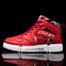 De los hombres de la moda de alta arriba zapatillas de deporte Hip Hop  zapatos casuales 51ea7c4fb4d