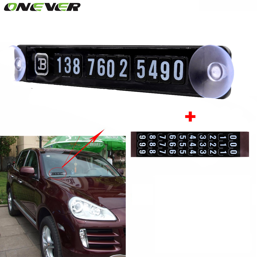 Car parking stickers design india - Black Magnetic Temporary Car Parking Card Phone Number Card Plate Sucker Car Sticker With A Number