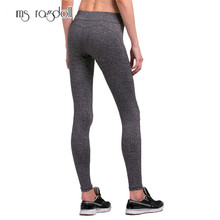 ms ragdoll Women Yoga Pants Fitness Sport Legging High Waist Hip Push Up Tights Slim Gym Workout Running Sportswear Female(China)