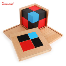 Wooden Blocks Toys Montessori educational Math Geometric Binomial Trinomial Cube Children 3D Jigsaw SE018-3