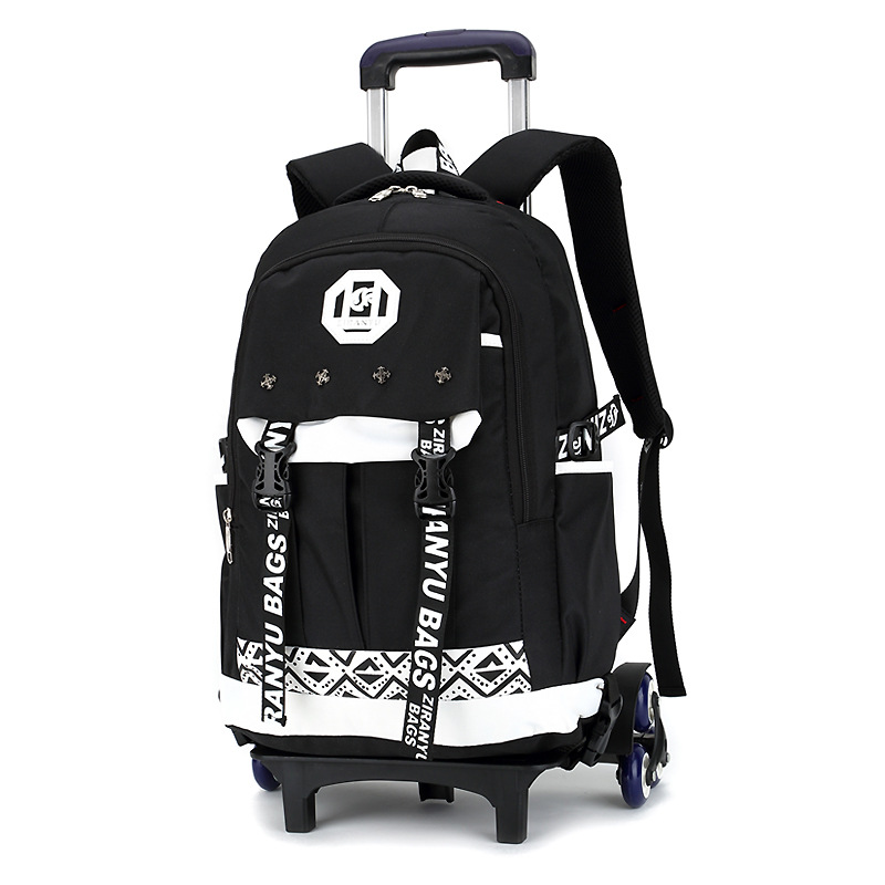 Latest Removable Children School Bags With 6 Wheels Stairs Kids boys girls Trolley Schoolbag Luggage Book Bags Wheeled Backpack ultrafire m3 t60 3 mode 910 lumen white led flashlight with strap black 1 x 18650