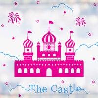 Nuevo 2015 de la historieta castillo pared del vinilo Snow Princess castillo arte Mural etiqueta de la pared Kid de dormitorio etiqueta decoración del hogar