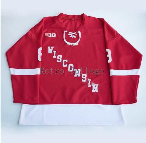 Wisconsin Badgers #17 Ryan McDonagh 8 Joe Pavelski Red Mens Hockey Jersey Embroidery Stitched any number and name JerseysWisconsin Badgers #17 Ryan McDonagh 8 Joe Pavelski Red Mens Hockey Jersey Embroidery Stitched any number and name Jerseys
