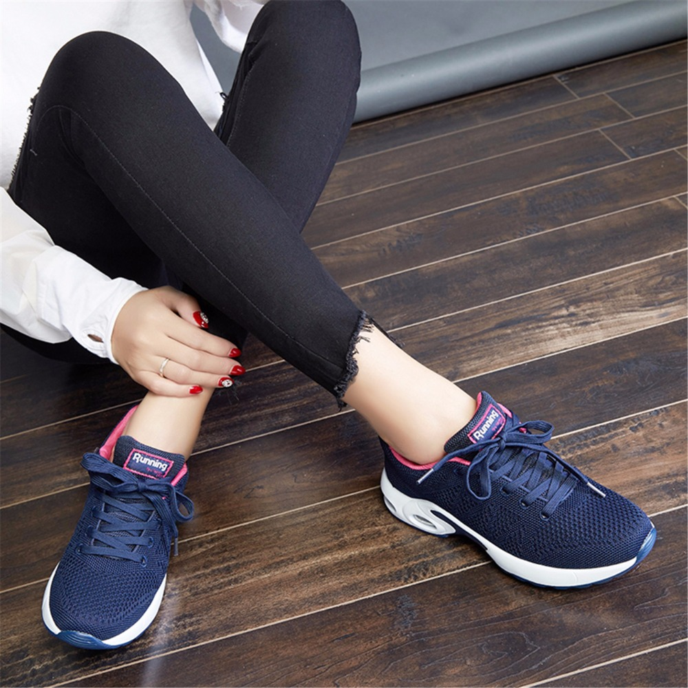 NEW Womens Running Sneakers Cushioning Sobretudo Feminino Breathable Mesh Sport Shoes Woman Lace Up Walking Zapatillas