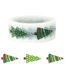20pcs/set Christmas Decoration Gift Accessories Green Pine Festival DIY Washi Tape Cute Stationery