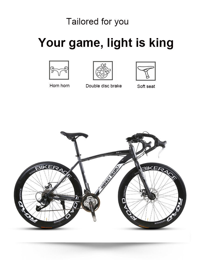 HTB16DydbeH2gK0jSZJnq6yT1FXaR Road Bike Fixed Gear Bicycle 26 inch 24/27 Speed Shift Bend Double Disc Brake Adult Student Men And Women
