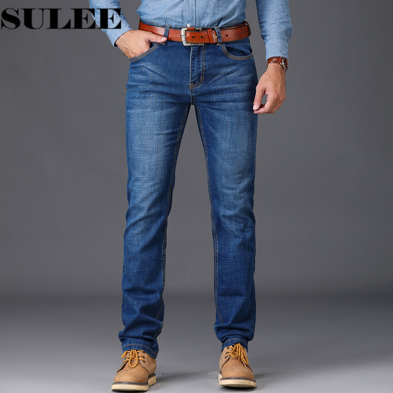 2018 New Men Skinny Jeans Stretch Fashion Classic Blue Leisure Mens Classic Summer Jeans Blue Male Waist Denim
