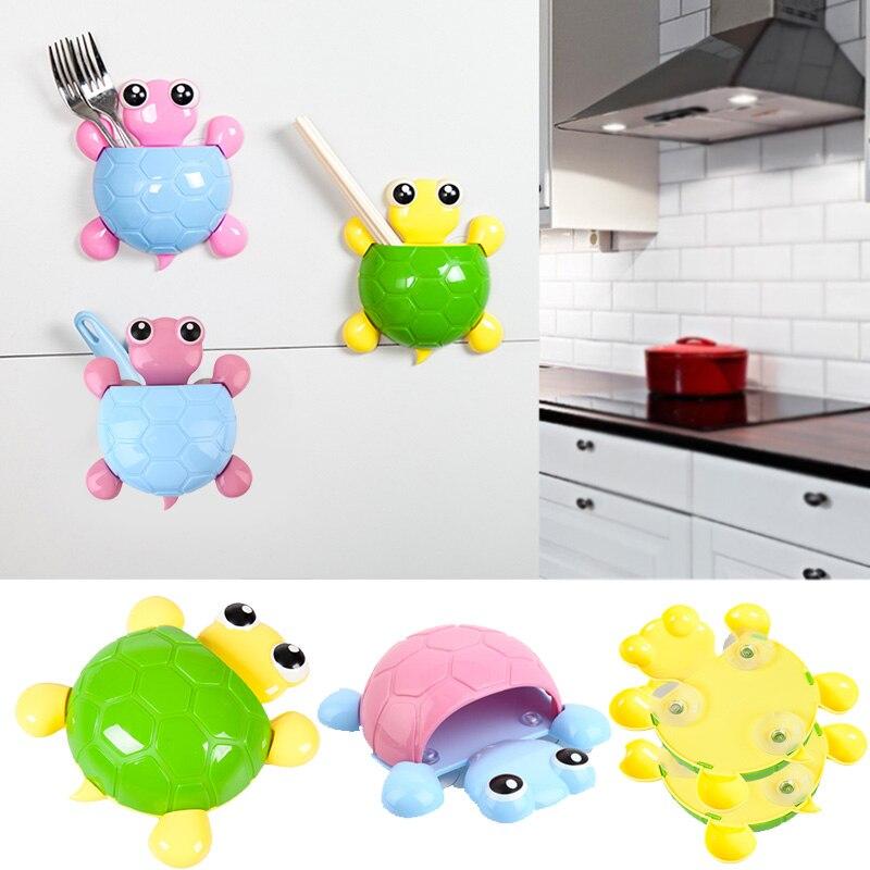 2017 черепаха присоски Зубные пасты держатель Зубная щётка стеллаж для хранения Ванная комната аксессуар