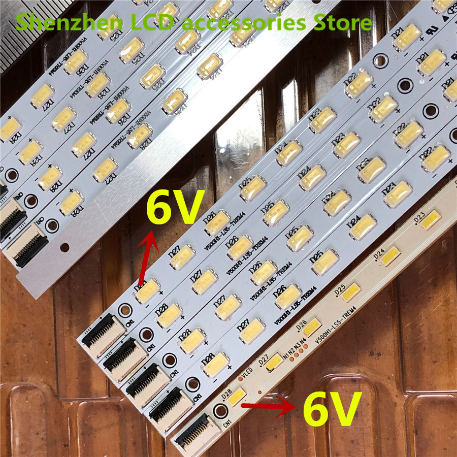2PCS  For  Skyworth L50E5000A/K310X3 LCD Backlight LED  V500H1-LS5-TREM4  V500H1-LS5-TLEM4  1PCS=28LED  315MM  100%NEW