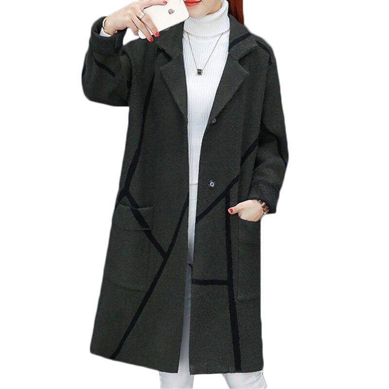 Nouvelle Printemps Laine De Mince Femmes Casual Colour Manteaux red Long vent Green Coréennes 2018 Caramel Manteau Couleur Bande A424 blue Coupe caramel grey Automne rdYIYwqp5