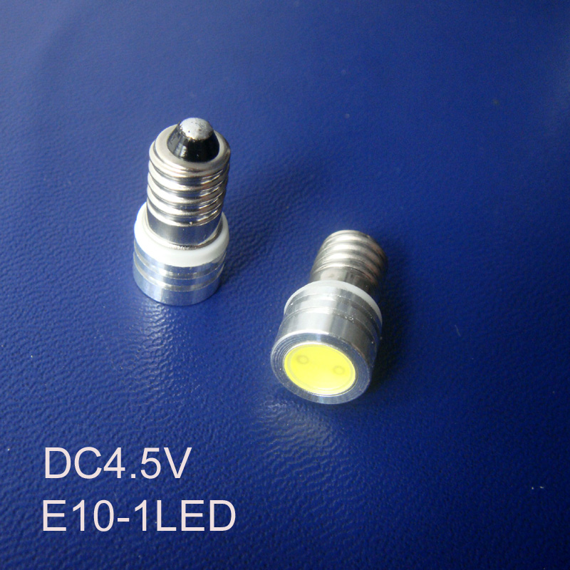 High quality 4.5Vdc Led E10 bulb,COB 0.5w E10 Led Indicator Light,Led Pilot lamp,Led Instrument Light free shipping 500pcs/lot
