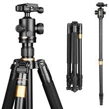 Q222 159 cm CNC usinagem de Alumínio tripé de câmera monopé para dslr câmera de vídeo foto suporte para filmadora digital 8 kg carga