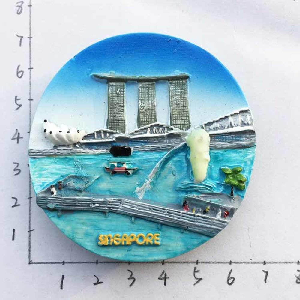 Singapore Merlion Park Sentosa Marina Bay Tourist Souvenir Fridge ...